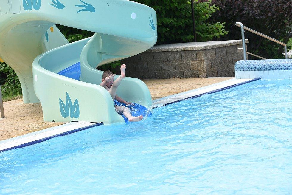 Vodní svět v Kolíně: venkovní bazén.