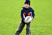 Děti si vyzkoušely fotbalový trénink.