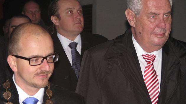 Z návštěvy prezidenta Miloše Zemana v Cerhenicích