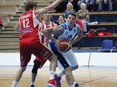 Čtvrtfinálové utkání BC Geosan Kolín - Pardubice (81:94).