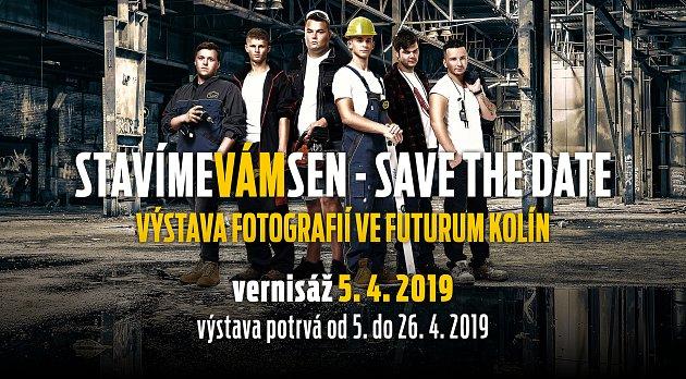 Pozvánka na výstavu fotografií vrámci projektu Stavíme vám sen vObchodním centru Futurum vKolíně.