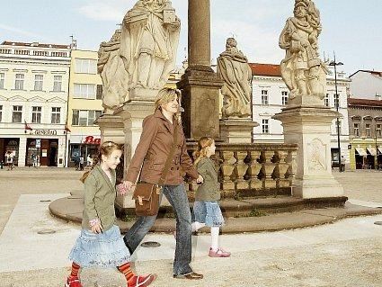 Morový sloup na Karlově náměstí v Kolíně.