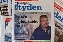 Titulní strana dvacátého druhého čísla týdeníku Kolínský týden.