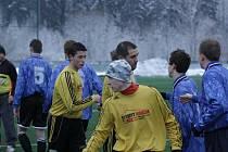 Z utkání zimního turnaje Kouřim - Pečky (0:2).