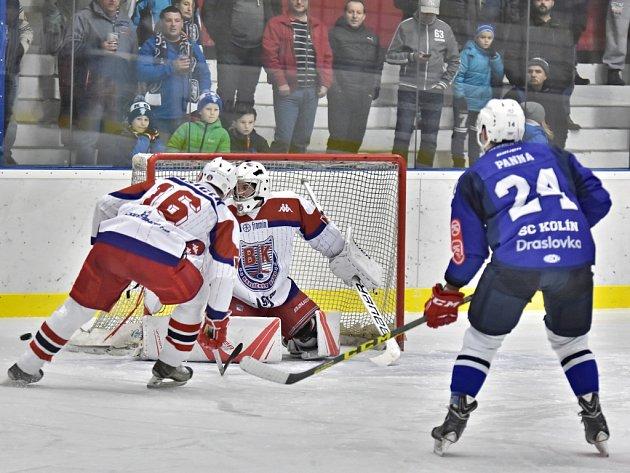 Hokejisté Kolína prohráli s Havlíčkovým Brodem po nájezdech 3:4.