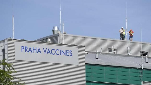 Závod na výrobu vakcín Praha Vaccines společnosti Novavax v Bohumile u Kostelce nad Černými lesy.