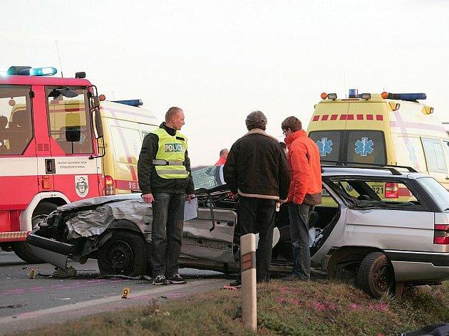 Vážná nehoda za Kolínem směrem na Čáslav. 23. listopadu 2009