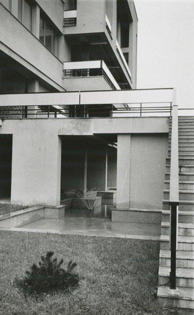 Historická fotografie teras za MSD Kolín