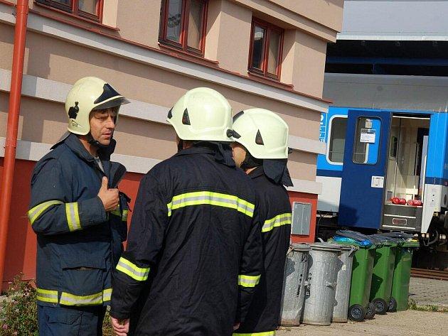 V českobrodském nádraží hořel vlak