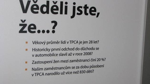 Ze zahájení výstavy k pěti letům výroby v automobilce TPCA