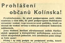 Co publikoval kolínský tisk den po vpádu vojsk Varšavské smlouvy