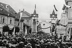 Velkolepé oslavy čtyřicetileté existence českobrodských Sokolů v červenci roku 1910.