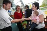 Vyhlášení miminka roku. 26. dubna Vodní svět Kolín