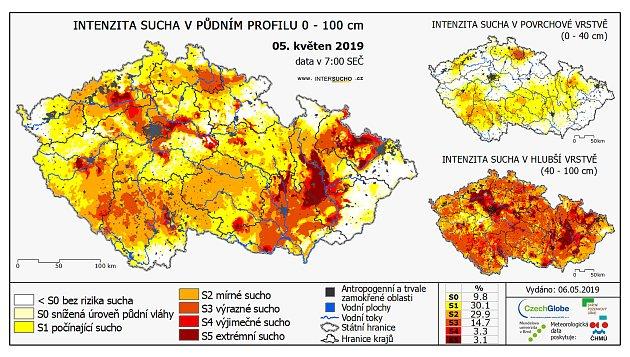 Podle odborníků zIntersucho.cz lze na infografice zpozorovat následující fakt: srážky sice spadly, ale 'žíznivé' rostliny vláhu absorbovaly a do spodní vrstvy půdy prakticky žádnou vodu nepustily.