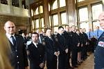 Slavnostní zahájení Dne záchranářů v obřadní síni v Kolíně.