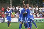 Z utkání Fotbalové národní ligy Kolín - Zlín (1:2)