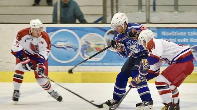 Kolínští hokejisté porazili Havlíčkův Brod těsně 3:2.