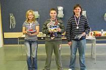 Nejlepší tři v kategorii čtrnáctiletých v soutěži 30 ran v leže.