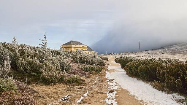 Okolí Sněžky v pátek 1. listopadu 2019.