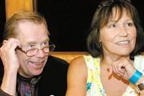 Václav Havel s Martou Kubišovou