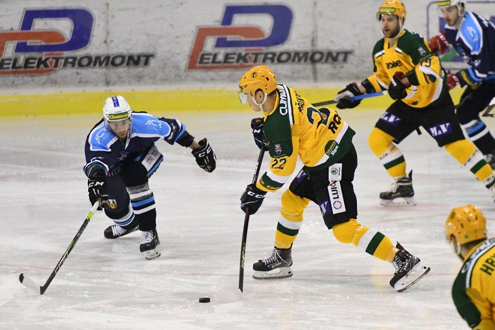 Čtvrtfinále play off hokejové Chance ligy: HC Stadion Vrchlabí - VHK Robe Vsetín.