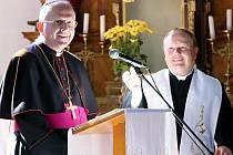Biskup z litoměřické diecéze Jan Baxant navštívil Bozkov.