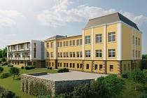 Vizualizace nového domova pro seniory v Hostinném, který vznikne v bývalé škole ve Sluneční ulici.