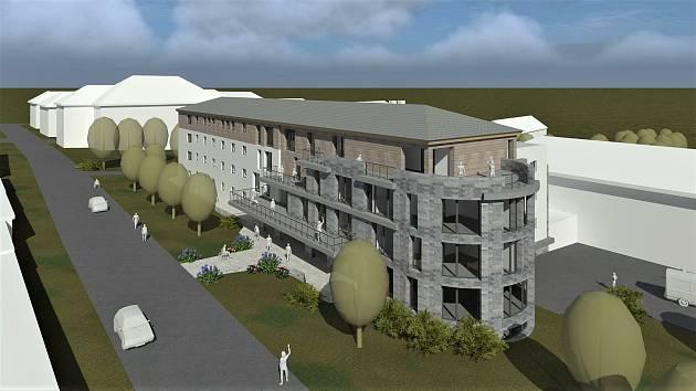 Vizualizace domova důchodců, který postaví Královéhradecký kraj za 125 milionů korun v Žacléři.