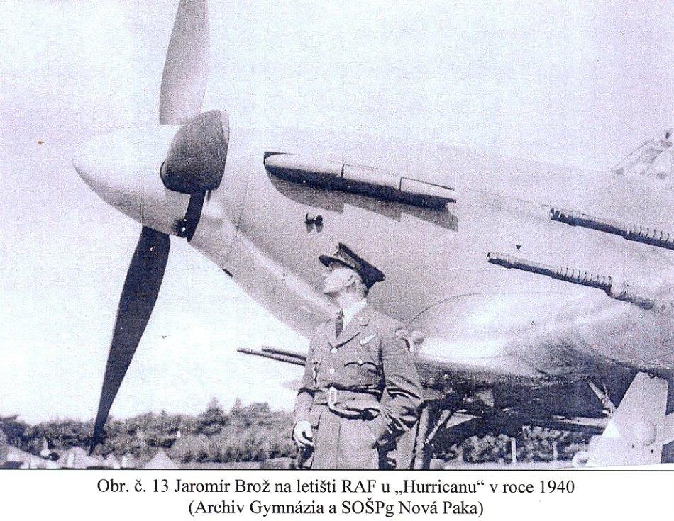 Odvahu letce Jaromíra Brože už připomíná pamětní deska