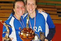 Trutnovské basketbalistky po vítězném utkání