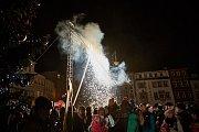 Tradiční městská slavnost Vánoční strom v Trutnově.