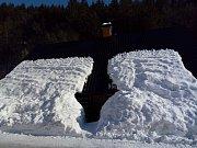 Zimní idylka v Černém Dole.