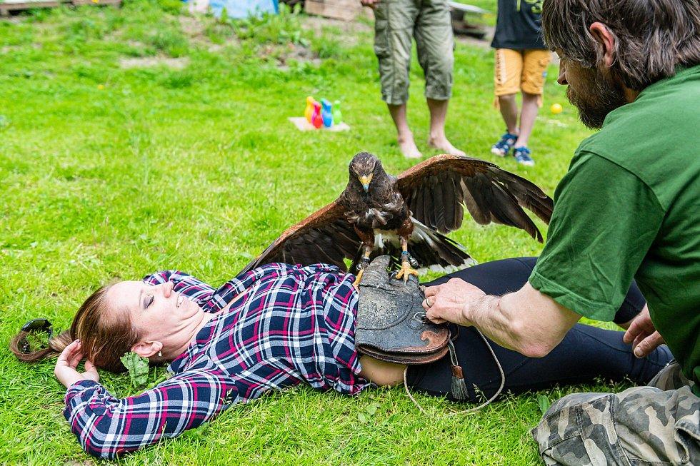 Ekocentrum Dotkni se křídel navštívily rodiny s dětmi při 1. narozeninách kolouška Bambiho.