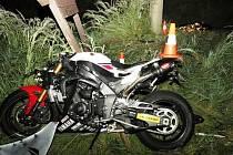 Nehoda motocyklisty v Horních Vernéřovicích
