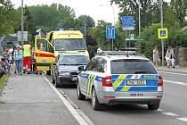 Další dopravní nehoda automobilu a cyklisty ve Vrchlabí