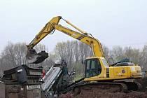 ZA JATKAMI ve Vrchlabí začala likvidace bývalé skládky. Na ploše vyroste kompostárna za 10 milionů korun.