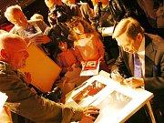 Václav Havel v Trutnově, kde obdržel v roce 2010 čestné občanství města.
