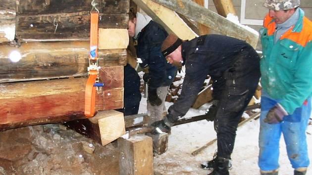 Oprava Dřevěnky
