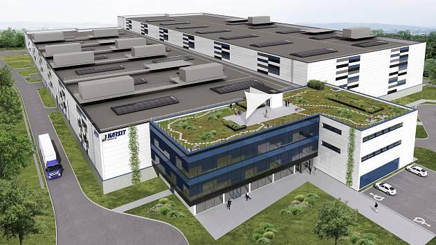 Zatím jen vizualizace. Továrna firmy Karsit se zatím nestaví kvůli námitce podjatosti.