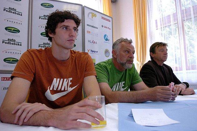 Tisková konference výškaře Jaroslava Báby.