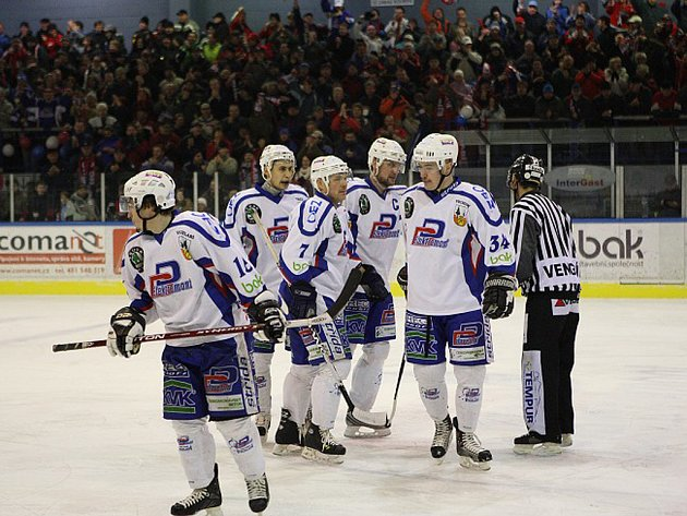 Čtvrtfinále play off první ligy: Vrchlabí - Hradec Králové (1. zápas).