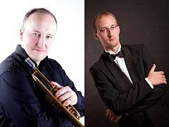 Trumpetista Marek Zvolánek a Varhaník Pavel Svoboda.