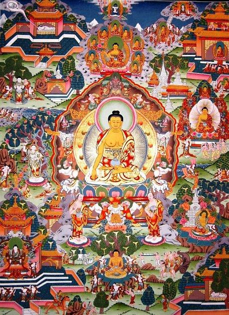 NAUČIT SE PÁR NEPÁLSKÝCH VĚT se na výstavě Umění tibetské thangky mohli ižáci žacléřské základy, kteří při návštěvě zvládli itisk ochranné Lungty.