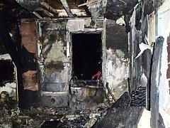 Požár v Dolní Olešnici