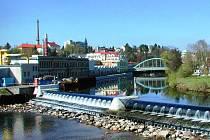 Řeka Jizera v Turnově