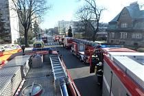Požár ve Vrchlabí