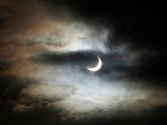 Žacléř: zatmění slunce, leden 2011