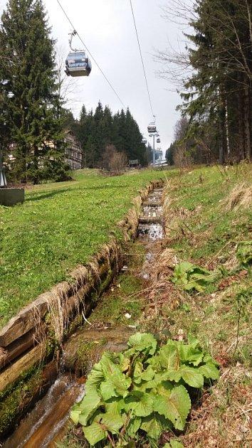 Lanovka zJanských Lázní na Černou horu se rozjela pro turisty ovíkendu, vdenním provozu bude od 6.května.