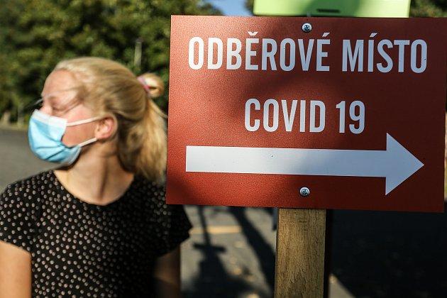 Odběrové místo na koronavirus. Ilustrační foto