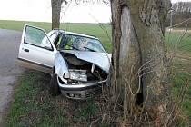 Dopravní nehoda ve Mženech